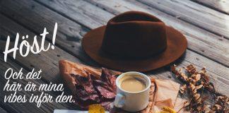 babyitscoldoutside julblogg, höstbild med hatt, kaffe och löv