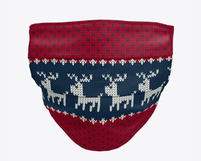 Ugly Christmas sweater face mask - munskydd